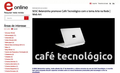 Bate-papo | Café Tecnológico | SESC Belenzinho | 2011