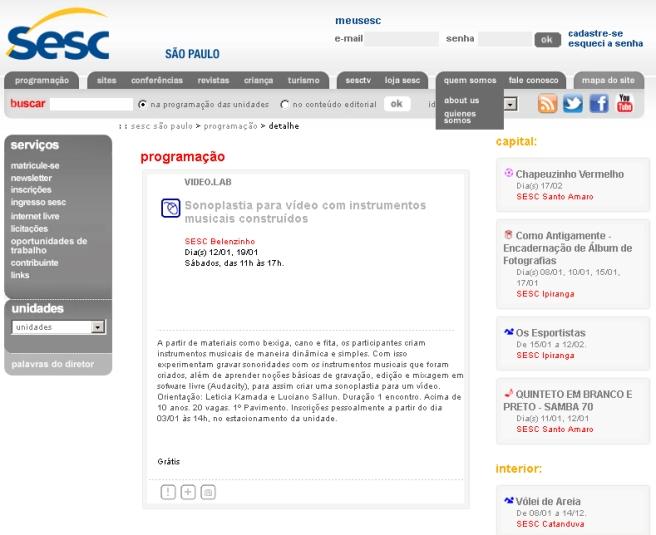 Oficina no SESC Belenzinho | Sonoplastia para vídeo com instrumentos musicais construídos | parceria com Luciano Sallun