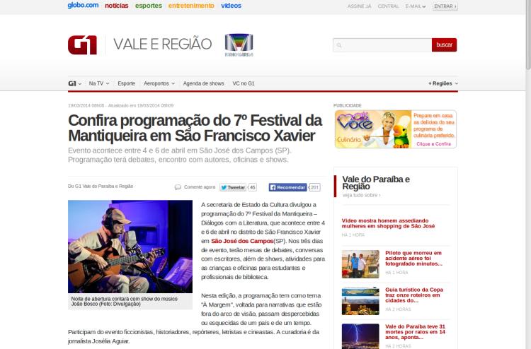 site da Globo Vale